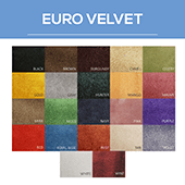 Euro Velvet - 100% Polyester - By The Yard - 54