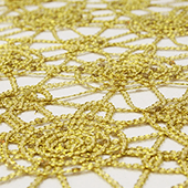 Dazzle Sequin Lace - 10 Yard Bolt - Gold