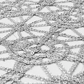 Dazzle Sequin Lace - 10 Yard Bolt - Silver