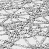 Dazzle Sequin Lace - 40 Yard Bolt - Silver