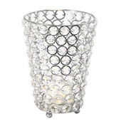 DecoStar™ Real Crystal Cylinder Candle Holder - LG