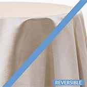 Fog- Royal Slub Designer Tablecloth - Many Size Options