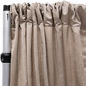 Royal Slub Drape Panel - 100% Polyester - Fog