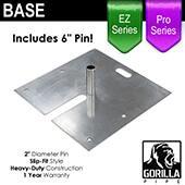 Pro & EZ Series - 24in x 24in Heavy Duty Base w/ Pin (Up to 18ft)