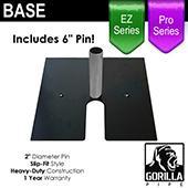 Black Pro & EZ Series - 24in x 24in Heavy Duty Base w/ Pin (Up to 18ft)