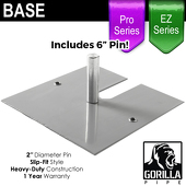 "Pro/EZ Series - 15in x 15in Standard Duty 2"" Base (Up to 8ft)"