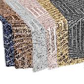 "Geometric Lines Sequin Table Runner - 12"" x 108"" - Choose Your Color!"