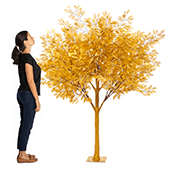 6.5FT Tall Gold Tree - Grand Centerpiece or Floor Tree - 10 Interchangeable Branches