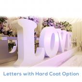 "Medium - High Density Foam Letters - 26"" to 40 "" Tall"