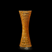 "LED Spiral Metal Tower 24"" - Gold"