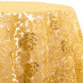Gold - Sweetheart Lace Overlay by Eastern Mills- Many Size Options