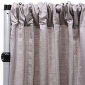Royal Slub Drape Panel - 100% Polyester - Gray