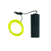 DISCONTINUED ITEM - Battery-Operated Electroluminescent (EL) Wire - 6ft (1.8M) Long - LIME GREEN