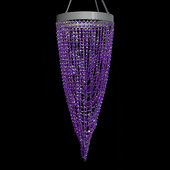 DecoStar™ Purple Twisted Chandelier with Diamond-Cut Acrylic Crystal Beads