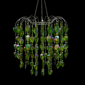 DecoStar™ Lime Teardrop Chandelier