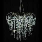 DecoStar™ Large Iridescent Crystal Waterfall Valance Chandelier