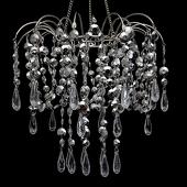 DecoStar™ Small Metallic Silver Waterfall Valance Chandelier