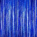 Blue - Cracked Ice Fringe Table Skirt - Many Size Options