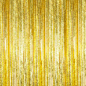 Gold - Cracked Ice Fringe Table Skirt - Many Size Options