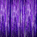 Purple - Cracked Ice Fringe Table Skirt - Many Size Options