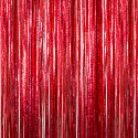 Red - Cracked Ice Fringe Table Skirt - Many Size Options