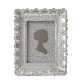 DecoStar™ Vintage Antique Ornate Silver Rectangle Frame - Medium - 9