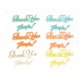 "Thank You OASIS Floral Picks - 3 1/2"" Thanks - 12/Pack"