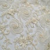 Ivory - Blossoming Lace Overlay by Eastern Mills - Many Size Options