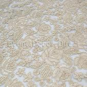 Ivory - Sweetheart Lace Overlay by Eastern Mills- Many Size Options