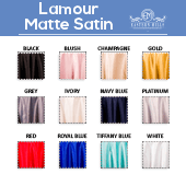 "Lamour Matte Satin ""Satinessa"" - 100% Polyester - By The Yard - 118"" Width"