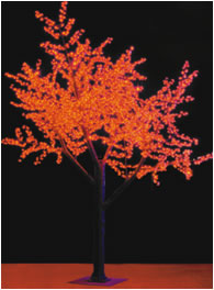 Lighted Orange LED Glowing Tree