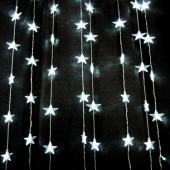 DecoStar™ 6ft Black LED Star Curtain