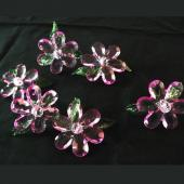 DecoStar™ Large Crystal Pink Flower Table Top Spreads