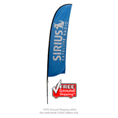 Large Feather Flag - Spike Base Single-Sided Graphic Package