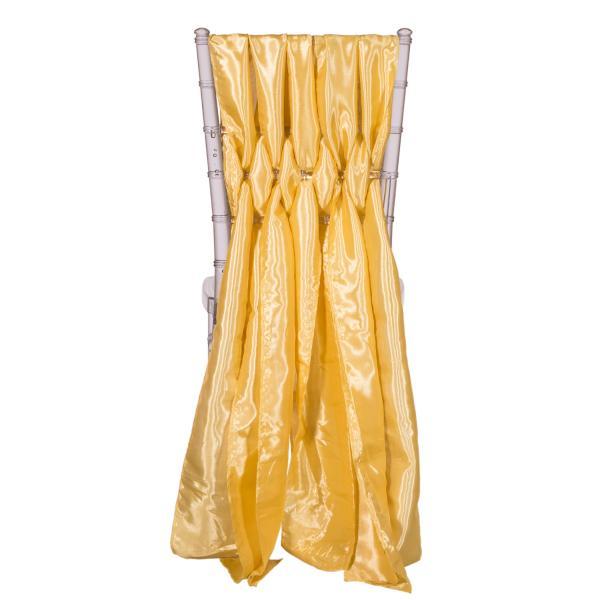 15 Chiavari Chair Accent 5 Piece Taffeta Weave Light Gold
