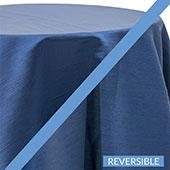 Marine - Royal Slub Designer Tablecloth - Many Size Options
