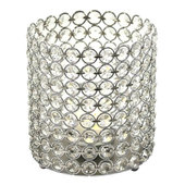 "DecoStar™ Crystal Candle Cylinder / Pillar - Small  6""W x 7""H"
