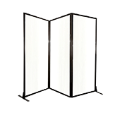 Medi-Wall Quick-Wall (Folding) Portable Partition - Choose Your Size -  Clear