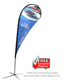 Large Teardrop Flag - X-Base Single-Sided Graphic Package