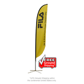 Medium Feather Flag - X-Base Single-Sided Graphic Package
