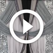Modern Black & White Backdrop - Instructional Video