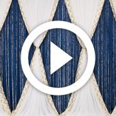 Navy and Crystal Backdrop - Instructional Video