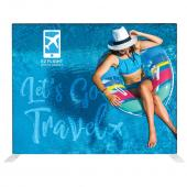 VALUE CHOICE - 10 Ft. Fabric Display - Straight Single-Sided W/ White Back Fabric Graphic Package