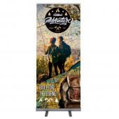 "VALUE CHOICE - 33.5 In. Good Roll Up Silver 80""H Super Flat Graphic Package"