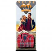 VALUE CHOICE - 36in. X 90in. Fabric Display Double-Sided Graphic Package