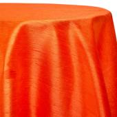 "Orange - Shantung Satin ""Capri"" Tablecloth - Many Size Options"