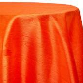 "Orange - Shantung Satin ""Capri"" Tablecloth - Many Size Options"
