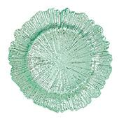 """Plastic Reef Charger Plate 13"""" - Aqua - 24 Pieces"""