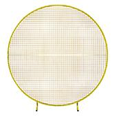 Decostar™ Round Gold Metal Mesh Backdrop Arch - 6.5ft Tall
