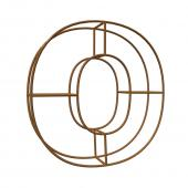"Balloon Geometric Frame 5ft ""O"" - Gold"